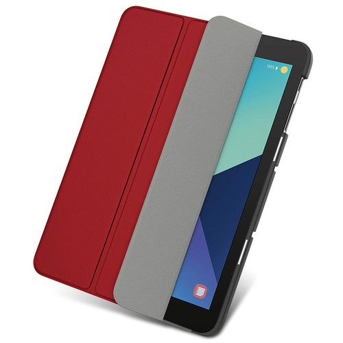 Trifold Smart Sleep/Wake Case for Samsung Galaxy Tab S3 9.7 - Red